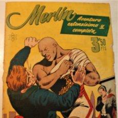 """Tebeos: EXTRA SERIE, EDITORIAL HISPANO AMERICANA, ORIGINAL 1950, NUM. 10, """"LUCHA CUERPO A CUERPO"""" CON MERLIN. Lote 237336485"""