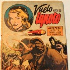 """Tebeos: EXTRA SERIE, EDITORIAL HISPANO AMERICANA, ORIGINAL 1950, NUM. 11, """" VUELO HACIA LO IGNOTO """". Lote 237337210"""