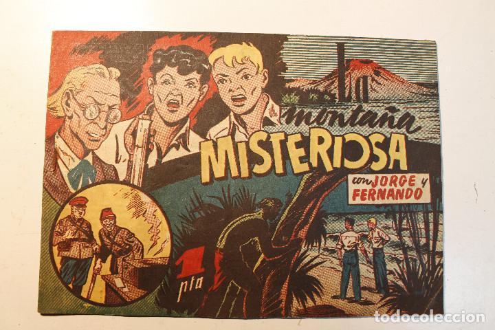 """JORGE Y FERNANDO, EDIT. HISPANO AMERICANA, ORIGINAL 1940, NÚMERO. """" LA MONTAÑA MISTERIOSA """" (Tebeos y Comics - Hispano Americana - Jorge y Fernando)"""