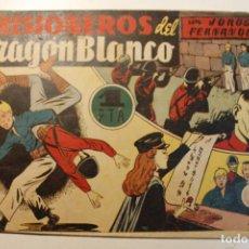 """Tebeos: JORGE Y FERNANDO, EDIT. HISPANO AMERICANA, ORIGINAL 1940, NÚMERO. """" PRISIONEROS DEL DRAGON BLANCO """". Lote 237341325"""