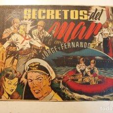 """Tebeos: JORGE Y FERNANDO, EDIT. HISPANO AMERICANA, ORIGINAL 1940, NÚMERO. """" SECRETOS DEL MAR """". Lote 237342405"""