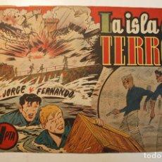 """Tebeos: JORGE Y FERNANDO, EDIT. HISPANO AMERICANA, ORIGINAL 1940, NÚMERO. """" PRISIONEROS DEL DRAGON BLANCO """". Lote 237342960"""