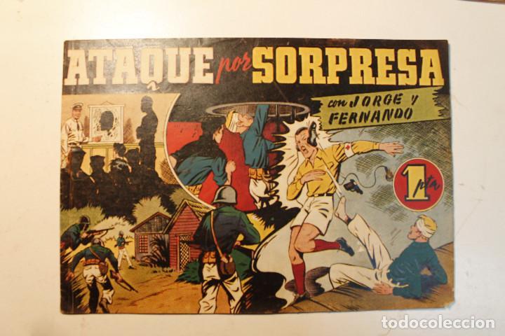 """JORGE Y FERNANDO, EDIT. HISPANO AMERICANA, ORIGINAL 1940, NÚMERO. """" ATAQUE POR SORPRESA """" (Tebeos y Comics - Hispano Americana - Jorge y Fernando)"""
