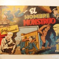 """Tebeos: JORGE Y FERNANDO, EDIT. HISPANO AMERICANA, ORIGINAL 1940, NÚMERO. """" EL HOMBRE MONSTRUO """". Lote 237345520"""