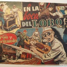 """Tebeos: JORGE Y FERNANDO, EDIT. HISPANO AMERICANA, ORIGINAL 1940, NÚMERO. """" EN LA BOCA DEL LOBO """". Lote 237354795"""