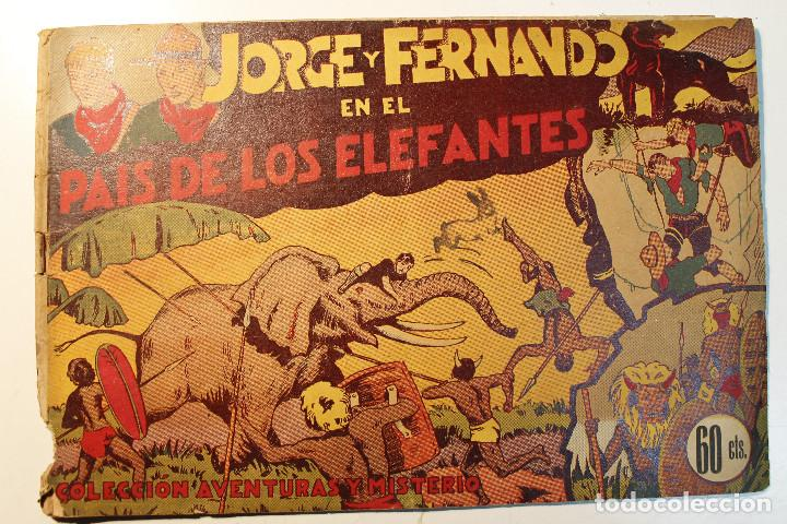 """JORGE Y FERNANDO, EDIT. HISPANO AMERICANA, ORIGINAL 1940, NÚMERO. """" EN EL PAÍS DE LOS ELEFANTES """" (Tebeos y Comics - Hispano Americana - Jorge y Fernando)"""