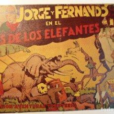 """Tebeos: JORGE Y FERNANDO, EDIT. HISPANO AMERICANA, ORIGINAL 1940, NÚMERO. """" EN EL PAÍS DE LOS ELEFANTES """". Lote 237356755"""