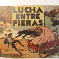 """Tebeos: JORGE Y FERNANDO, EDIT. HISPANO AMERICANA, ORIGINAL 1940, NÚMERO. """" LUCHA ENTRE FIERAS """". Lote 237357250"""