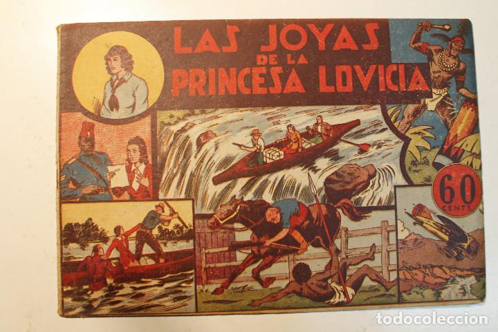 """JORGE Y FERNANDO, EDIT. HISPANO AMERICANA, ORIGINAL 1940, NÚM. """" LAS JOYAS DE LA PRINCESA LOVICIA """" (Tebeos y Comics - Hispano Americana - Jorge y Fernando)"""