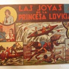 """Tebeos: JORGE Y FERNANDO, EDIT. HISPANO AMERICANA, ORIGINAL 1940, NÚM. """" LAS JOYAS DE LA PRINCESA LOVICIA """". Lote 237357990"""
