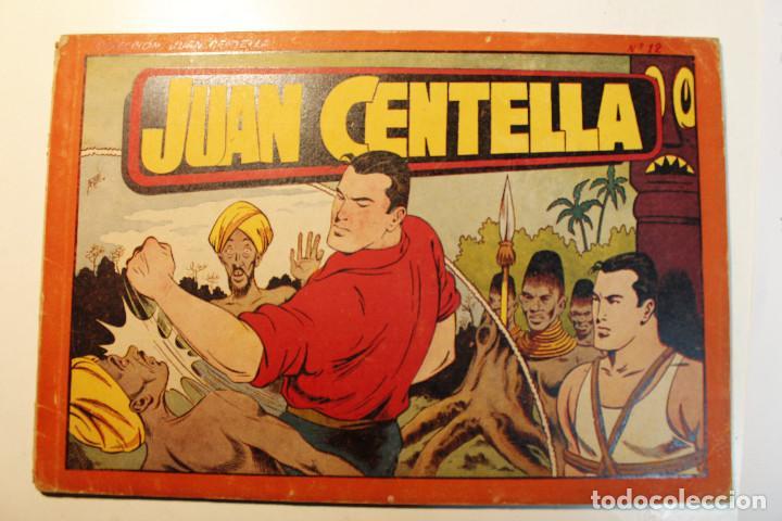 JUAN CENTELLA, ALBÚM ROJO. EDITORIAL HISPANO AMERICANA, ORIGINAL 1944, NUMERO 12 (Tebeos y Comics - Hispano Americana - Jorge y Fernando)