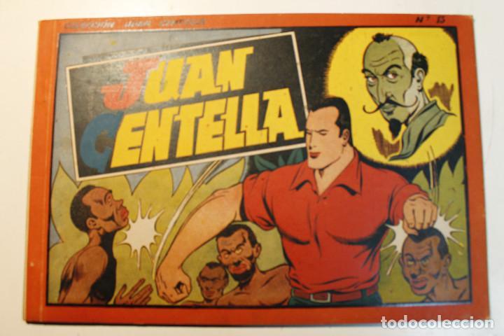 JUAN CENTELLA, ALBÚM ROJO. EDITORIAL HISPANO AMERICANA, ORIGINAL 1944, NUMERO 13 (Tebeos y Comics - Hispano Americana - Jorge y Fernando)