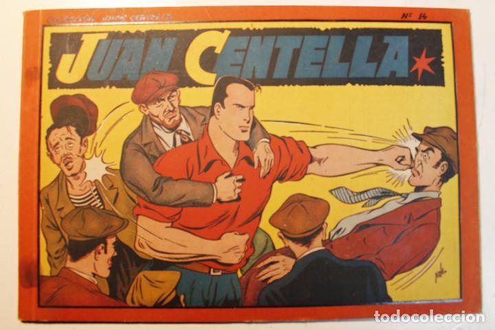 JUAN CENTELLA, ALBÚM ROJO. EDITORIAL HISPANO AMERICANA, ORIGINAL 1944, NUMERO 14 (Tebeos y Comics - Hispano Americana - Jorge y Fernando)