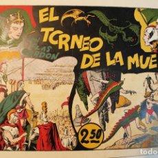 """Tebeos: FLAS GORDON, HISPANO AMERICANA 1944, NÚMERO ORIGINAL """" EL TORNEO DE LA MUERTE """". Lote 237626300"""