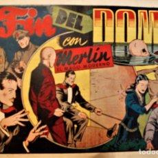 Tebeos: MERLIN; EL FIN DEL DOMO, EDITORIAL HISPANO AMERICANA 1942, NUMERO ORIGINAL. Lote 237704600