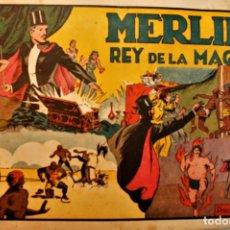 Tebeos: MERLIN; REY DE LA MÁGIA, EDITORIAL HISPANO AMERICANA 1942, NUMERO ORIGINAL. Lote 237705600