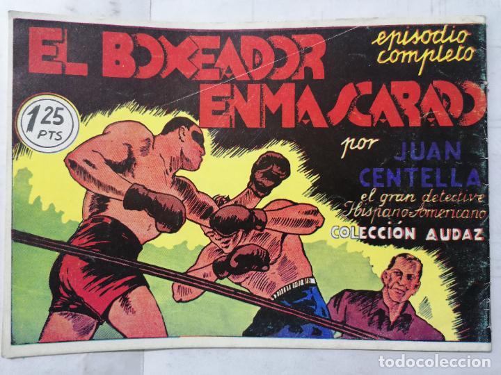 Tebeos: JUAN CENTELLA EL HERCULES DETECTIVE, Nº 2, LA BANDA DEL ANTIFAZ VERDE - Foto 2 - 239543495