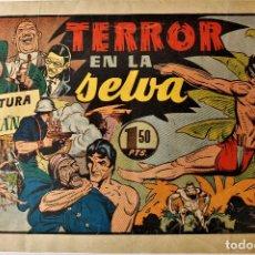 """Tebeos: AVENTURAS DE TARZAN, HISPANO AMERICANA 1942 NÚMERO ORIGINAL """" TERROR EN LA JUNGLA """". Lote 240621855"""
