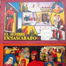 Tebeos: COMIC-10. EL HOMBRE ENMASCARADO. ALBUM ROJO. NÚMEROS 3 Y 5. HISPAMO AMERICANA. ORIGINAL AÑOS 40.. Lote 242877920