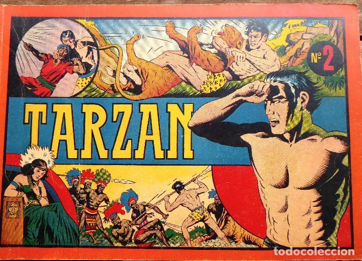 COMIC-11. TARZAN. ALBUM ROJO. NÚMERO 2 EDIT. HISPAMO AMERICANA. ORIGINAL AÑOS 40. (Tebeos y Comics - Hispano Americana - Tarzán)