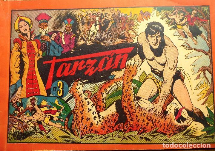 COMIC-12. TARZAN. ALBUM ROJO. NÚMERO 3 EDIT. HISPAMO AMERICANA. ORIGINAL AÑOS 40. (Tebeos y Comics - Hispano Americana - Tarzán)