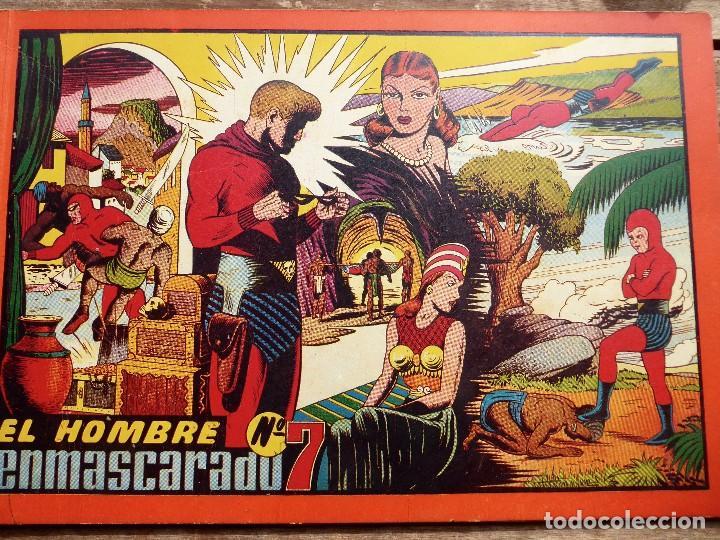 COMIC-13. EL HOMBRE ENMASCARADO. ALBUM ROJO. NÚMERO 7. HISPAMO AMERICANA. ORIGINAL AÑOS 40. (Tebeos y Comics - Hispano Americana - Hombre Enmascarado)