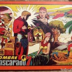 Tebeos: COMIC-13. EL HOMBRE ENMASCARADO. ALBUM ROJO. NÚMERO 7. HISPAMO AMERICANA. ORIGINAL AÑOS 40.. Lote 242883350