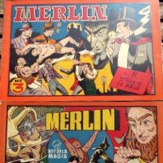 Livros de Banda Desenhada: COMIC-14. MERLÍN . ALBUM ROJO. NÚMEROS 3 Y 4. HISPAMO AMERICANA. ORIGINALES. AÑOS 40.. Lote 242884955