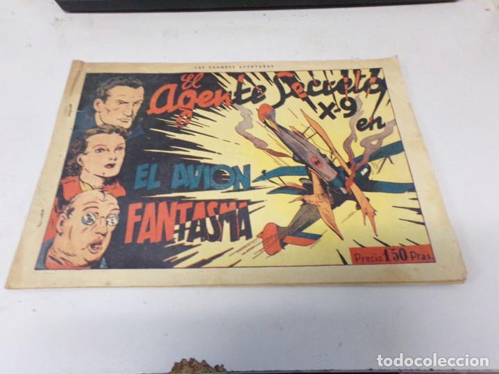 EL AGENTE SECRETO X-9 . NUMERO 3 - EL AVION FANTASMA . HISPANO AMERICANA (Tebeos y Comics - Hispano Americana - Otros)