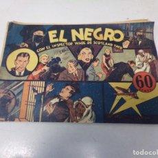 """Tebeos: EL INSPECTOR WADE DE SCOTLAND YARD - EL NEGRO """" HISPANO AMERICANA DE EDICIONES. Lote 242889655"""