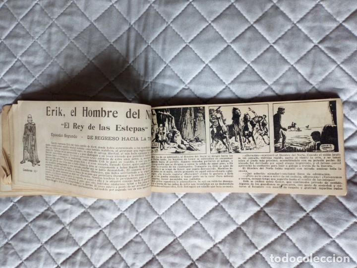 Tebeos: Erik el Hombre del Norte Lote de 17 tebeos (3 al 19 ) en un tomo HISPANOAMERICANA Año 1952 - Foto 5 - 245623065