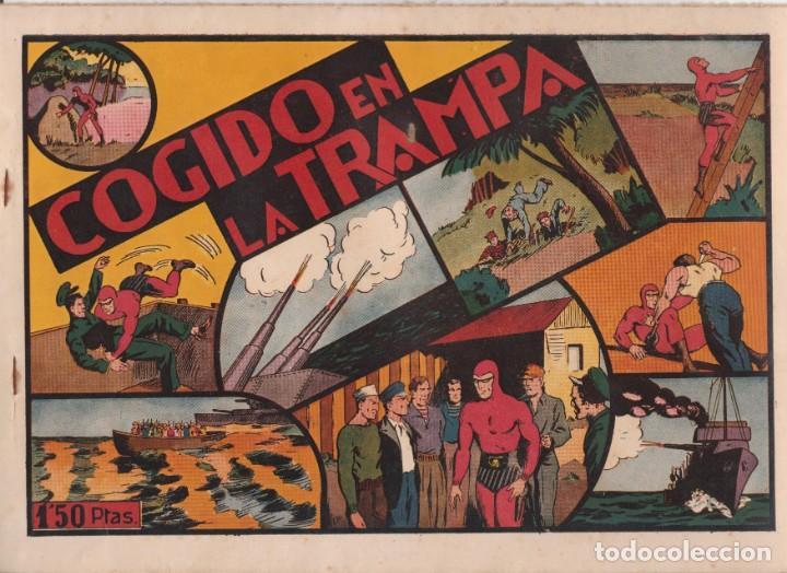 """COMIC APAISADO, EL HOMBRE ENMASCARADO """" COGIDO EN LA TRAMPA """" ORIGINAL HISPANO-AMERICANAAÑOS 40 (Tebeos y Comics - Hispano Americana - Hombre Enmascarado)"""