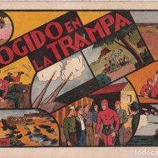 """Tebeos: COMIC APAISADO, EL HOMBRE ENMASCARADO """" COGIDO EN LA TRAMPA """" ORIGINAL HISPANO-AMERICANAAÑOS 40. Lote 246597585"""