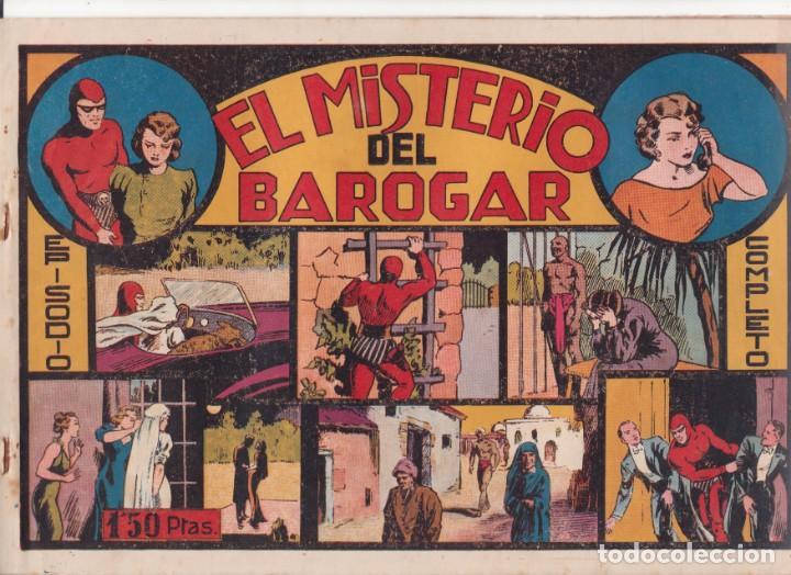 """COMIC APAISADO, EL HOMBRE ENMASCARADO """" EL MISTERIO DE BAROGAR """" ORIGINAL HISPANO-AMERICANAAÑOS 40 (Tebeos y Comics - Hispano Americana - Hombre Enmascarado)"""