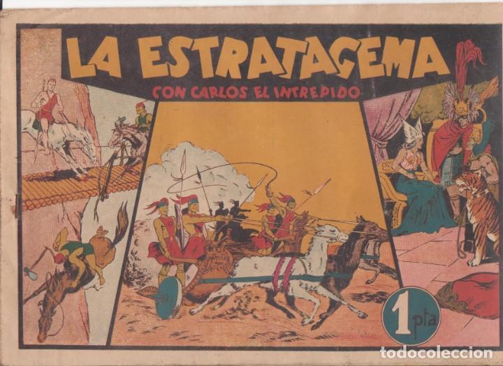 """COMIC CARLOS EL INTRÉPIDO EN """" LA ESTRATAGEMA """" HISPANO AMERICANA DE EDICIONES (75 CTMS) (Tebeos y Comics - Hispano Americana - Carlos el Intrépido)"""