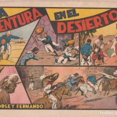 Tebeos: COMIC JORGE Y FERNANDO, UNA AVENTURA EN EL DESIERTO, HISPANO AMERICANA DE EDICIONES (75 CTMS). Lote 246801460