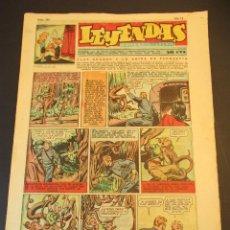 Tebeos: LEYENDAS INFANTILES (1942, SENDA / HISPANO AMERICANA) 163 · 17-VII-1945 · LEYENDAS INFANTILES / LEYE. Lote 248687535
