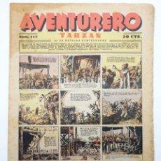 Tebeos: AVENTURERO. SEMANARIO DE LAS PORTENTOSAS AVENTURAS Nº 112 (VVAA) HISPANO AMERICANA, 1937. ORIGINAL. Lote 252593805