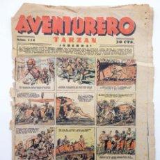 Tebeos: AVENTURERO. SEMANARIO DE LAS PORTENTOSAS AVENTURAS Nº 118 (VVAA) HISPANO AMERICANA, 1937. ORIGINAL. Lote 252593810