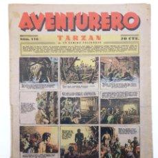 Tebeos: AVENTURERO. SEMANARIO DE LAS PORTENTOSAS AVENTURAS Nº 116 (VVAA) HISPANO AMERICANA, 1937. ORIGINAL. Lote 252593815