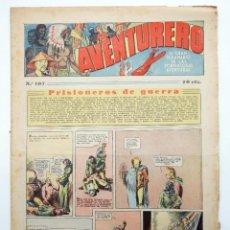 Tebeos: AVENTURERO. SEMANARIO DE LAS PORTENTOSAS AVENTURAS Nº 107 (VVAA) HISPANO AMERICANA, 1937. ORIGINAL. Lote 252593840
