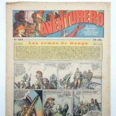 Tebeos: AVENTURERO. SEMANARIO DE LAS PORTENTOSAS AVENTURAS Nº 103 (VVAA) HISPANO AMERICANA, 1937. ORIGINAL. Lote 252593860
