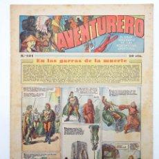 Tebeos: AVENTURERO. SEMANARIO DE LAS PORTENTOSAS AVENTURAS Nº 101 (VVAA) HISPANO AMERICANA, 1937. ORIGINAL. Lote 252593870