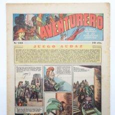 Tebeos: AVENTURERO. SEMANARIO DE LAS PORTENTOSAS AVENTURAS Nº 102 (VVAA) HISPANO AMERICANA, 1937. ORIGINAL. Lote 252593890