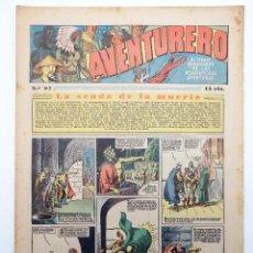 Tebeos: AVENTURERO. SEMANARIO DE LAS PORTENTOSAS AVENTURAS Nº 97 (VVAA) HISPANO AMERICANA, 1937. ORIGINAL. Lote 252593910