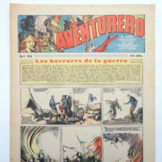 Tebeos: AVENTURERO. SEMANARIO DE LAS PORTENTOSAS AVENTURAS Nº 91 (VVAA) HISPANO AMERICANA, 1937. ORIGINAL. Lote 252593915