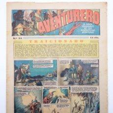 Tebeos: AVENTURERO. SEMANARIO DE LAS PORTENTOSAS AVENTURAS Nº 93 (VVAA) HISPANO AMERICANA, 1937. ORIGINAL. Lote 252593920