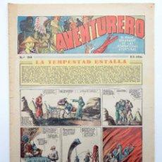 Tebeos: AVENTURERO. SEMANARIO DE LAS PORTENTOSAS AVENTURAS Nº 90 (VVAA) HISPANO AMERICANA, 1937. ORIGINAL. Lote 252593925