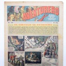 Tebeos: AVENTURERO. SEMANARIO DE LAS PORTENTOSAS AVENTURAS Nº 89 (VVAA) HISPANO AMERICANA, 1937. ORIGINAL. Lote 252593930