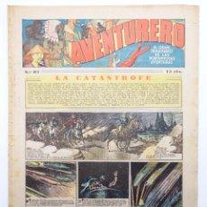 Tebeos: AVENTURERO. SEMANARIO DE LAS PORTENTOSAS AVENTURAS Nº 87 (VVAA) HISPANO AMERICANA, 1937. ORIGINAL. Lote 252593960